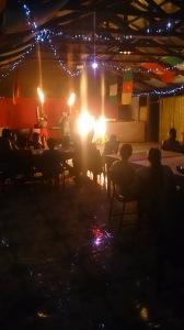 Fire dancing Poutasi